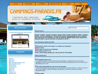 Annuaire campings